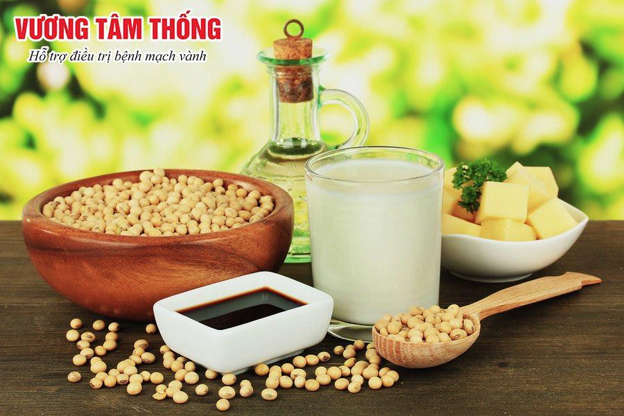 Người bệnh mạch vành nên ăn nhiều các thực phẩm có nguồn gốc từ đậu nành